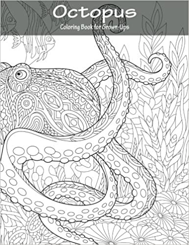 Amazon.com: Octopus Coloring Book for Grown-Ups 1 (Volume 1 ...