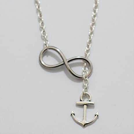 Amazon.com: Lariat Infinity Anchor Necklace-simple Necklace, Gifts ...