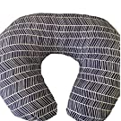 Navy Herringbone Nursing Pillow Cover