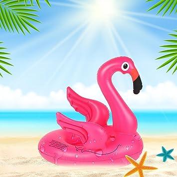 iBasteES natación de Verano Anillo Flotante Inflable Flotador Playa Flotador Flamingo Sentado Anillo de natación de