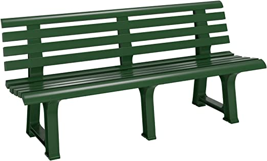 Casaria Banco de jardín Verde Resistente a la Intemperie para 3 ...