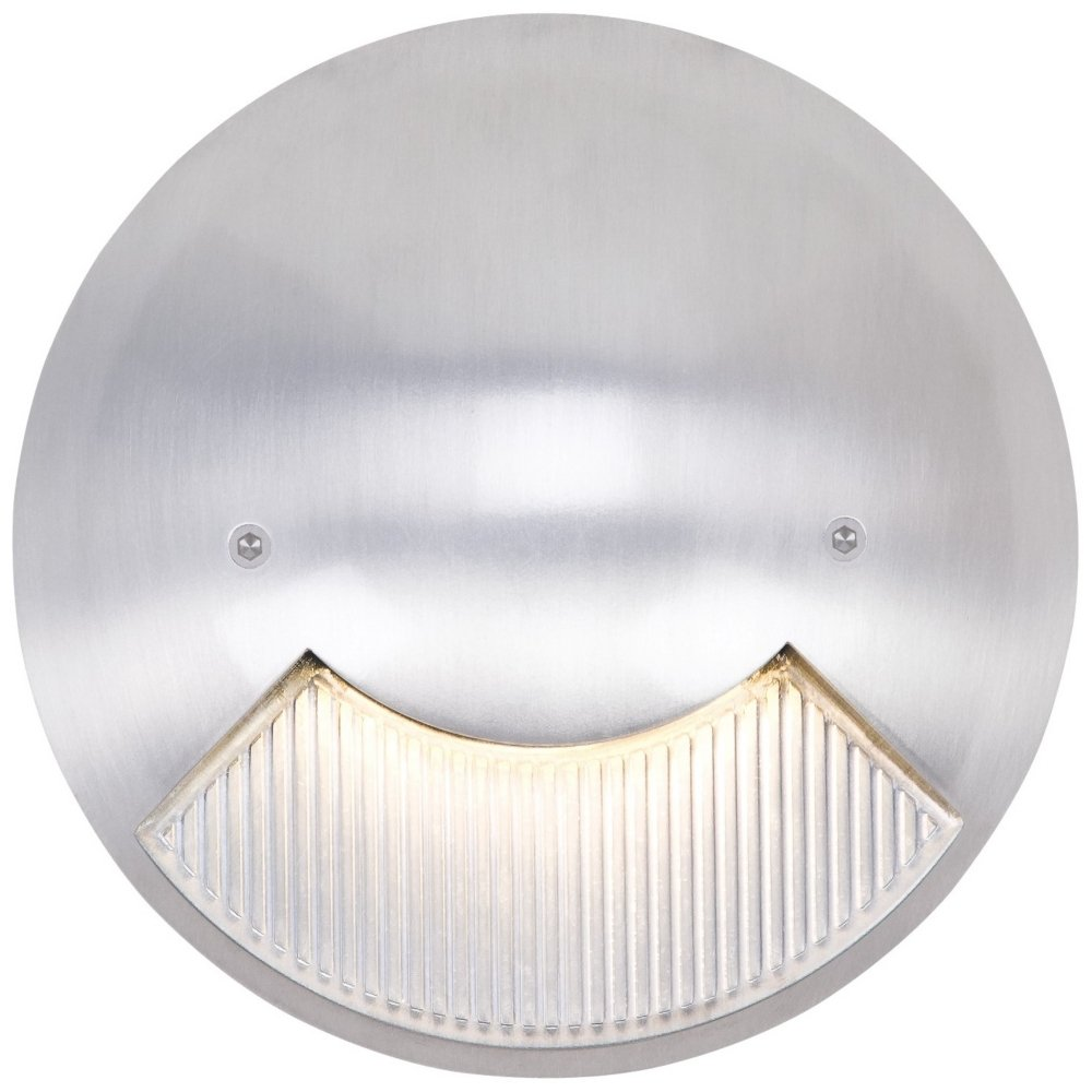 Matte White 6'' Wide LED Round Outdoor Step Light