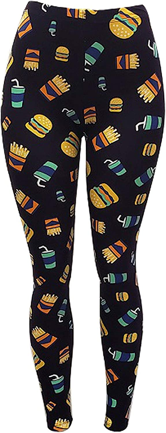 One Size-Plus Size Eevee Womens Solid /& Patterned Leggings