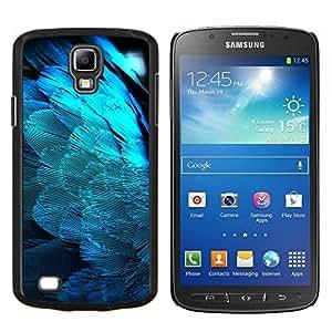 YiPhone /// Prima de resorte delgada de la cubierta del caso de Shell Armor - Plumas Light Blue Angel Wings Pájaro Espiritual - Samsung Galaxy S4 Active i9295