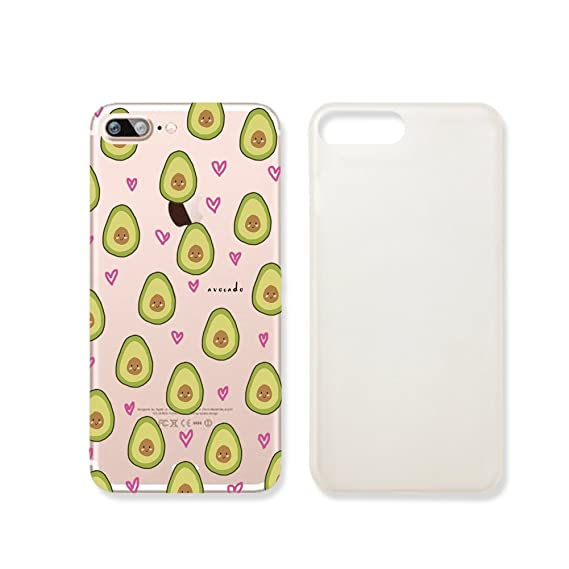 online store 0a318 67b7f Cute Avocado Pattern Slim Iphone 7 Case, Clear Iphone 7 Hard Cover Case For  Apple Iphone 7 -Emerishop (iphone 7)