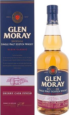 Glen Moray Elgin Classic Sherry Cask Single Malt Scotch Whisky in Gift Box - 700 ml