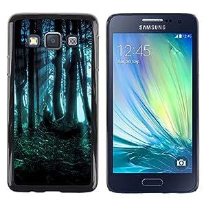 TopCaseStore / la caja del caucho duro de la cubierta de protección de la piel - Forest Dark Fairy Mysterious Nature Summer - Samsung Galaxy A3 SM-A300