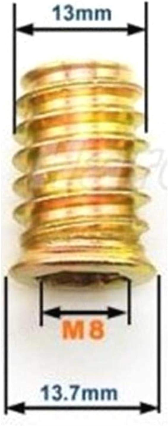 20 Piezas LAQI Inserto roscado Inserto de Madera Tuercas Surtido Muebles de aleaci/ón de Zinc Tuerca Hexagonal M6 // M8 // M10 M8 * 17 mm