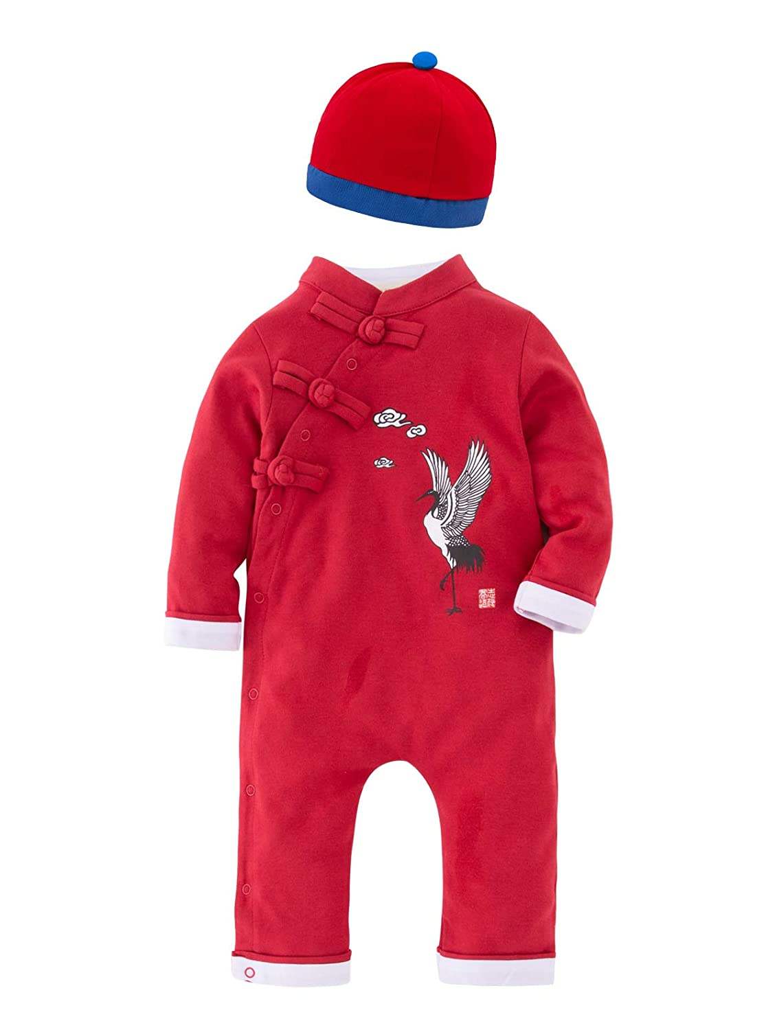 Mays Baby Toddler Chinese de Stijl Rompers New Year Genre Jumpsuit