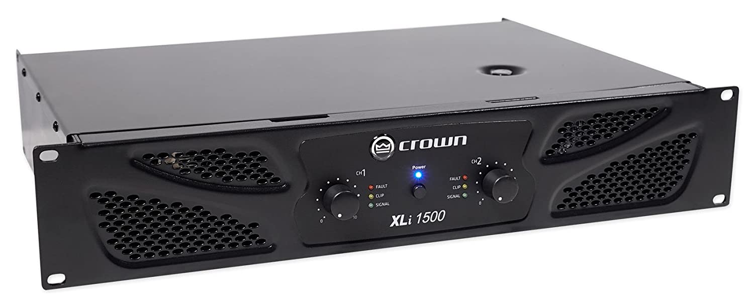 amazon com: crown pro xli1500 900w 2 channel dj/pa power amplifier  professional