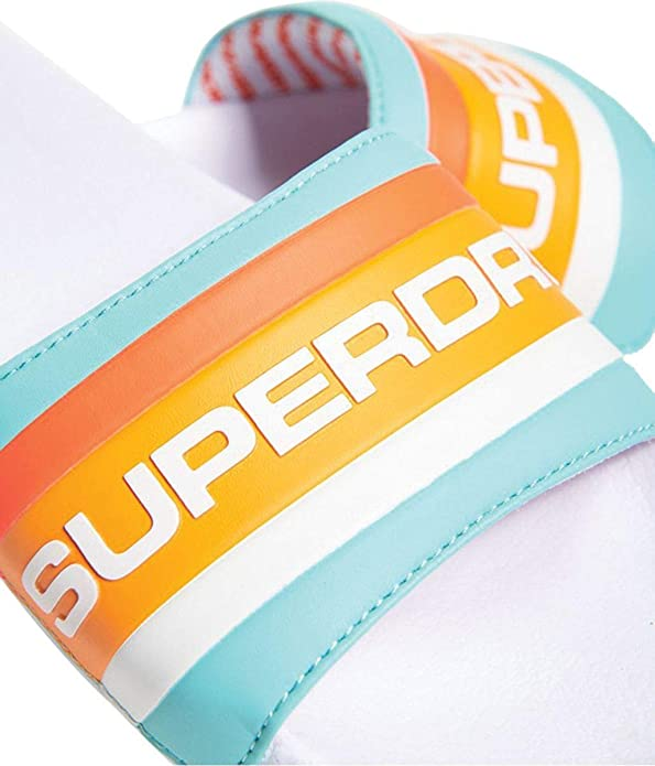 Superdry Retro Colour Block Pool V4b Sliders | Kostenlose