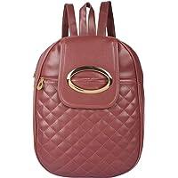 Beets Collection Studded Mini Shoulder Backpack for Women & Girls Bag (Pink)