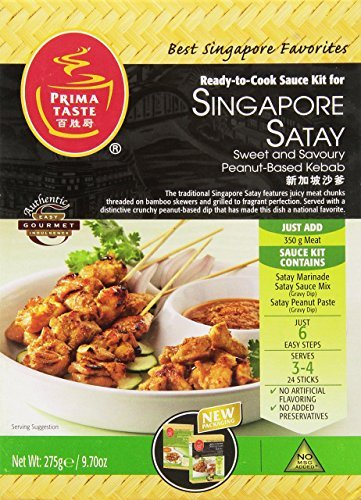 Prima Taste Singapore Kebab Satay Sauce Kit, 9.7-Ounce Boxes (Pack of 4) by Prima Taste