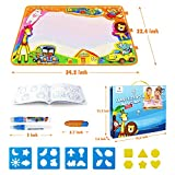 "Betheaces Aqua Magic Mat, Kids Toys Large Water Drawing Mat Toddlers Painting Board Writing Mats in 6 Colors with 2 Magic Pens and 1 Brush for Boys Girls Educational Gift Size 34.5"" X 22.5"""