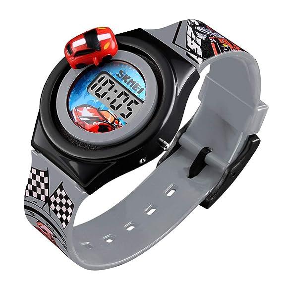 Relojes digitales de coche 3D de silicona para niños pequeños reloj de pulsera el mejor regalo para niños y niñas pequeños: Amazon.es: Relojes