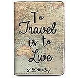 Personalized Passport Holder - Wanderlust - Leather Passport Holder for Women