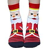 VJGOAL Moda casual de Navidad Calcetines de algodón con estampado de dibujos animados en 3D Calcetines gruesos y…