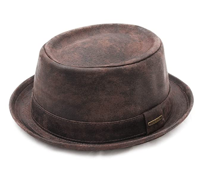 Stetson Pork Pie Pig Skin Leather Pork Pie Hat Size M  Amazon.ca ... 10dc51056e6