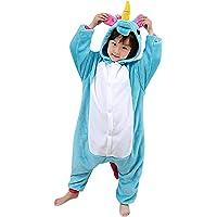 Dolamen Enfant Kigurumi Combinaison Pyjama Onesies, Fille Garçon Fleece Anime Cosplay Halloween Noël Fête Costume Soirée de Déguisement Vêtement de Nuit