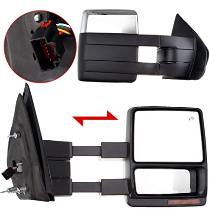 Amazon Com Eccpp Towing Mirrors Replacement Fit For 2007 2014 Ford