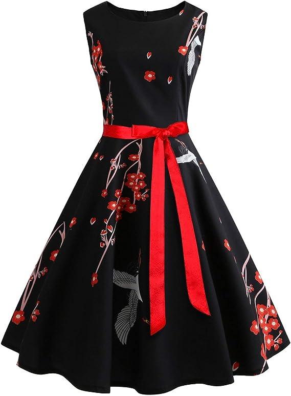 Amazon Co Jp Women S Dress Casual Flower Retro Vintage Robe Rockabilly Party Dress A26 Xl Swing Clothing Accessories