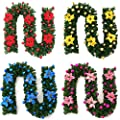 Heitaisi 2.7M Christmas Wreath,Christmas Garland Rattan Ornament,Christmas Decorations Rattan Cane Rattan with Led Lamp