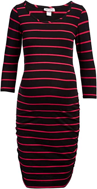 Rumor Has It Maternity Ruched Sides Shift Dress
