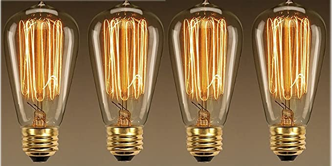 Retro Lampen Led : Buy weldecor glass vintage edison tungsten fillament led retro cfl
