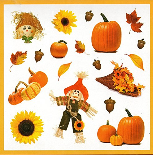 - Fall Scarecrow, Pumpkins Refrigerator Magnets, Set of 8 Magnets