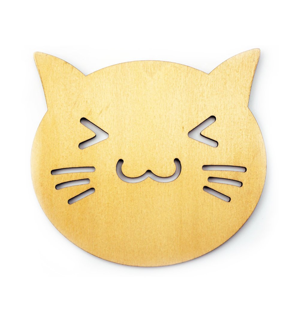 Da.Wa Cute Toast Cat Emoji Coasters Cafe Patio Cocktail Drink Cup Coasters Mug Home Decor Gift