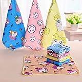 Kongnijiwa 30 * 30 cm cuadrado de tela toallas de microfibra toalla de mano toallas de cara para adultos de los niños de color…