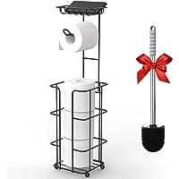 Hokyzam - Soporte para papel higiénico con estante de almacenamiento y dispensador para 3 rollos de papel higiénico de…