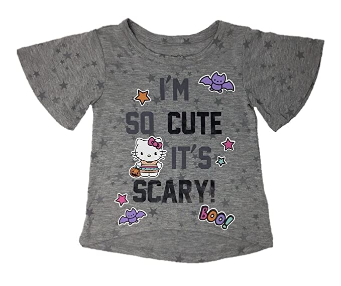 a70b91a6 Image Unavailable. Image not available for. Color: Toddler Girls Hello  Kitty Halloween I'm So Cute, It's Scary T-Shirt