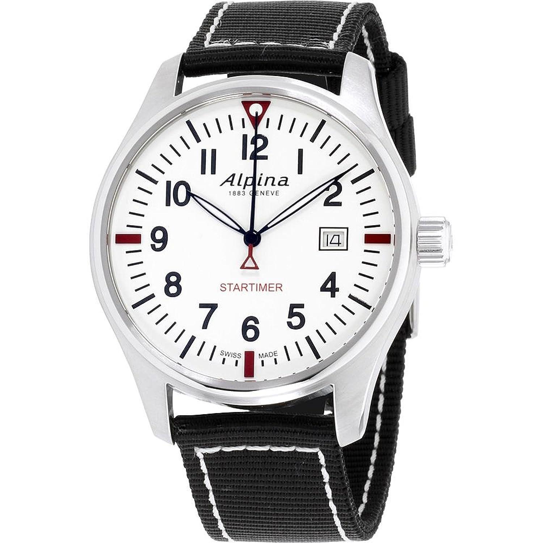AlpinaAlpina StartimerホワイトダイヤルブラックTextileストラップメンズ腕時計al240bs4s6 B07BFJ3MPR, ドレスショップOFTHERIP:17522e49 --- jphupkens.be