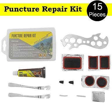 Kit de reparación de pinchazos para bicicleta, de 15 piezas, de ...