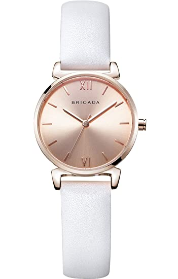 Nice Fashion Elegant Rose Gold Ladies Watch Swiss Brand Leather Band Waterproof Rose Gold White Beige Black Dress Watch For Women On Sale Clearance