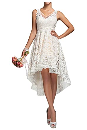 Hot Dresses Womens High Low Country Style Wedding Dresses Long Brial Dress (US 2,