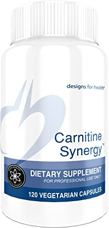 Designs for Health Carnitine Synergy – 400mg L-Carnitine 100mg Acetyl L-Carnitine 120 Capsules
