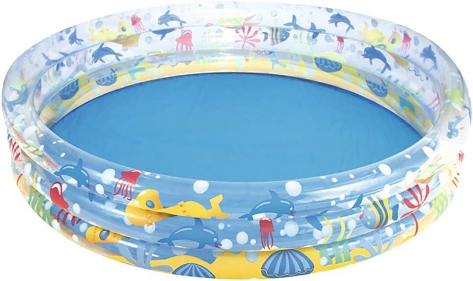 Piscina Inflable para Niños, PVC, Fondo De Burbujas, Redondo - Espacio Grande - 150×53 Cm con Bomba De Pie: Amazon.es: Hogar