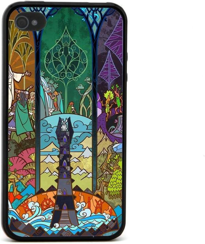 ecenter - El Señor de los Anillos diseño trama de la película de dibujos animados de aliviopatrón 20 negro Bumper plastique + cas de TPU couverture for Apple iPhone 4 4S 4th