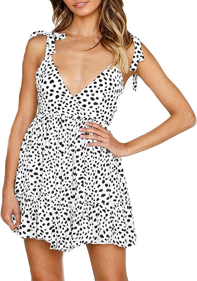 ASHOP Ropa de Mujer en Oferta, Estampado de Leopardo Sexy Envolver ...