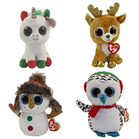 83e66268491 Amazon.com  TY Beanie Boos - Set of 4 Holiday 2018 Releases (Candy ...