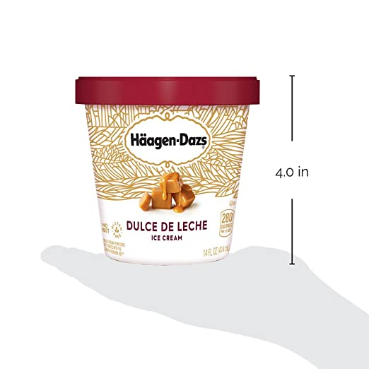 Haagen-Dazs, Dulce De Leche Ice Cream, 14 oz (Frozen): Amazon.com: Grocery & Gourmet Food