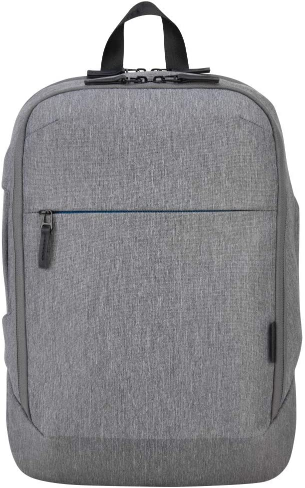 Targus CityLite Pro Modern Compact Convertible Backpack for 12-Inch to 15.6-Inch Laptop, Grey (TSB937GL)