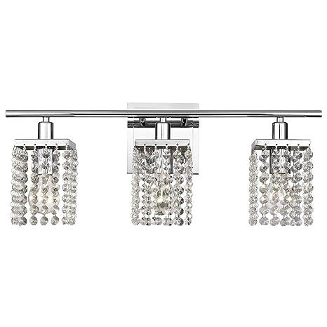 3 Light Crystal Bathroom Vanity Light Amazon Com