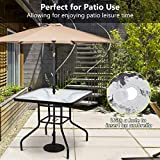 "Tangkula 32"" Patio Table Tempered Glass Top Metal"