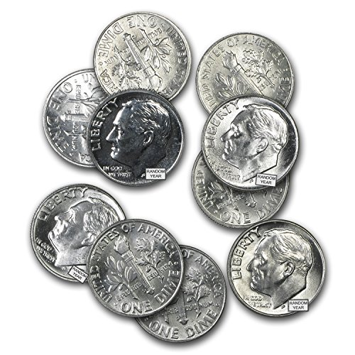 1946-1964 $1.00 Face Value Roosevelt Dimes BU Dime Brilliant Uncirculated