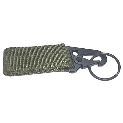 La mochila táctica al aire libre del mosquetón engancha el corchete del llavero de nylon para