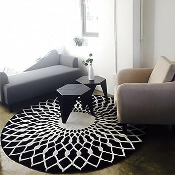 Amazon.de: ZHEN GUO SHOP Nordic Mode Teppich schwarz und ...