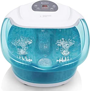 MaxKare Foot Spa/Bath Massager with Heat Bubbles
